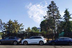 Problemas de recarga en nuestro Model 3 durante una prueba comparativa con un Audi e-tron y un Jaguar I-PACE (27/09/2019)